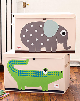 3 Sprouts Toy Chest - Elephant - Clean the Bedroom with Imagination Toy Storage Boxes