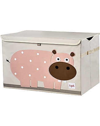 3 Sprouts Toy Chest - Hippo -  Clean the Bedroom with Imagination Toy Storage Boxes