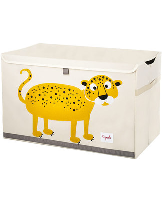 3 Sprouts Toy Chest - Leopard - Clean the Bedroom with Imagination Toy Storage Boxes