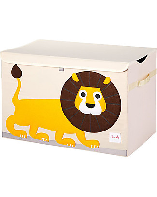 3 Sprouts Toy Chest - Lion -  Clean the Bedroom with Imagination Toy Storage Boxes