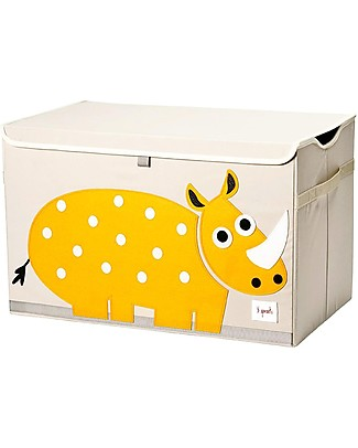 3 Sprouts Toy Chest - Rhino -  Clean the Bedroom with Imagination Toy Storage Boxes