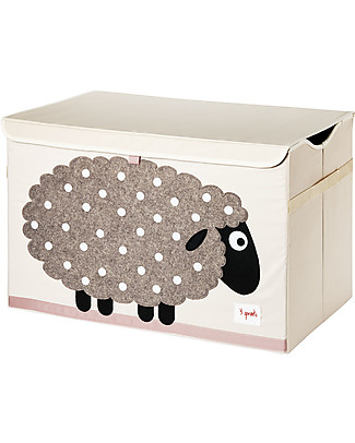 3 Sprouts Toy Chest - Sheep -  Clean the Bedroom with Imagination Toy Storage Boxes