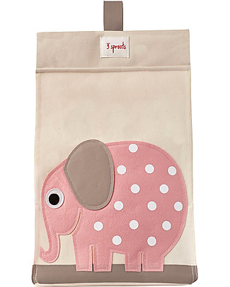 3 Sprouts Universal Diaper Stacker, Pink Elephant - Cotton canvas Changing Tables