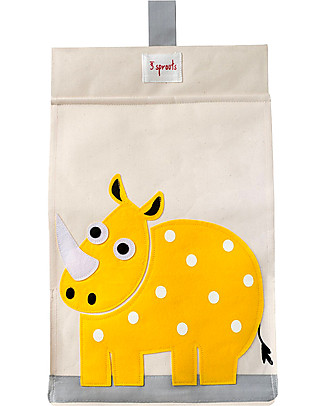 3 Sprouts Universal Diaper Stacker, Yellow Rhino - Cotton canvas Changing Tables