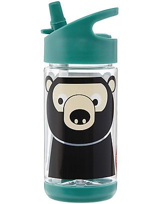3 Sprouts Water Bottle with Spout - Bear - 350 ml - BPA e phthalate free BPA-Free Bottles