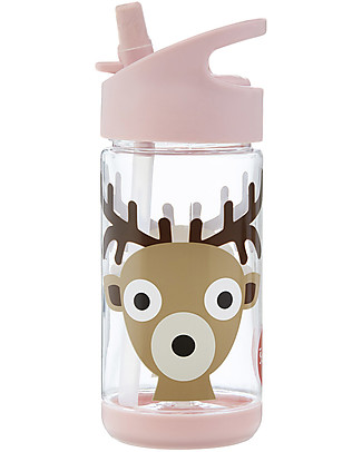 3 Sprouts Water Bottle with Spout - Deer - 350 ml - BPA e phthalate free BPA-Free Bottles