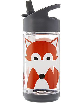 3 Sprouts Water Bottle with Spout - Fox - 350 ml - BPA e phthalate free BPA-Free Bottles