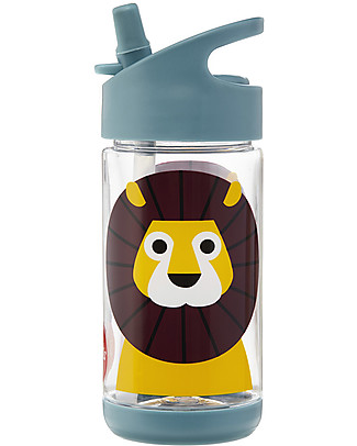 3 Sprouts Water Bottle with Spout - Lion - 350 ml - BPA e phthalate free BPA-Free Bottles