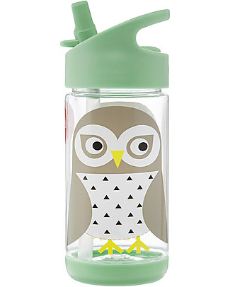 3 Sprouts Water Bottle with Spout - Owl - 350 ml - BPA e phthalate free BPA-Free Bottles