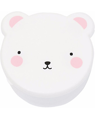 A Little Lovely Company 4 Snack Box, Bear - Pink - BPA and Phthalate Free null