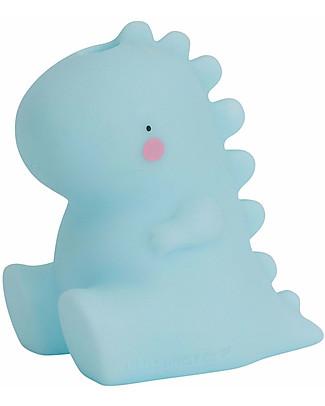 A Little Lovely Company Bath Toy, T-Rex - Light Blue Bath Toys