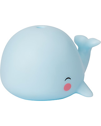 A Little Lovely Company Bath Toy, Whale - Light Blue Bath Toys