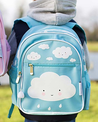 A Little Lovely Company Big Backpack, Cloud, 25 x 32 x 16 cm - Light Blue Large Backpacks