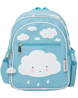 A Little Lovely Company Big Backpack, Cloud, 25 x 32 x 16 cm - Light Blue null