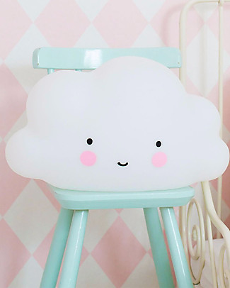 A Little Lovely Company Big LED Light, Cloud - White Bedside Lamps