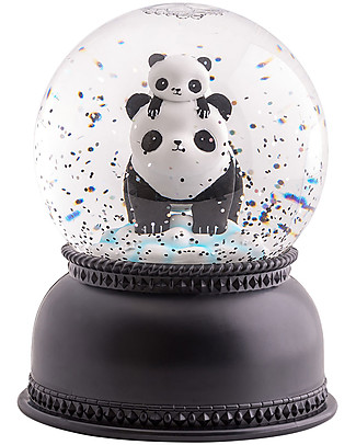 A Little Lovely Company Big LED Light, Snowglobe, Panda - Black Party Favours