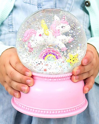A Little Lovely Company Big LED Light, Snowglove, Unicorn - Pink Bedside Lamps