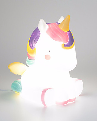 A Little Lovely Company Big LED Light, Unicorn - White and Pink Bedside Lamps