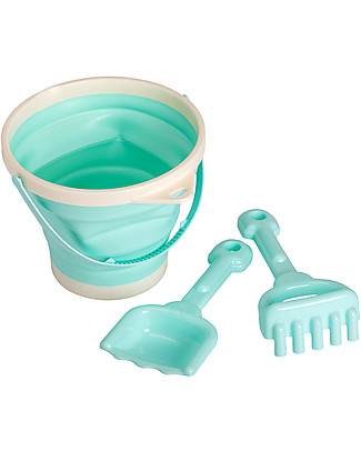 A Little Lovely Company Bucket and Spade Set: Mint Beach Toys