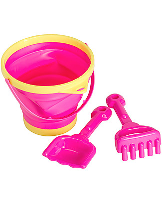 A Little Lovely Company Bucket and Spade Set - Pink Beach Toys