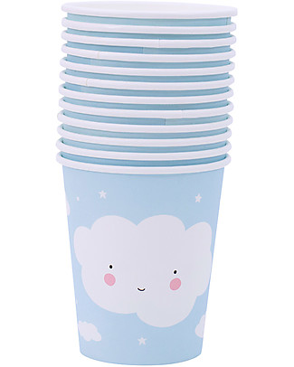 A Little Lovely Company Celebrations 12 Paper Cups - Cloud Meal Sets