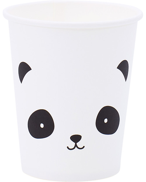 A Little Lovely Company Celebrations 12 Paper Cups - Panda Meal Sets