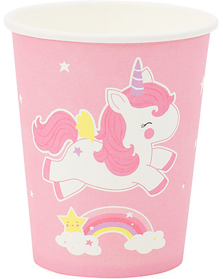 A Little Lovely Company Celebrations 12 Paper Cups - Unicorn Meal Sets