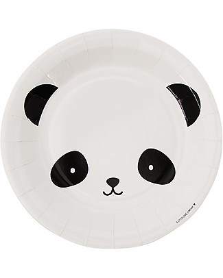 A Little Lovely Company Celebrations 12 Paper Plates - Panda Bowls & Plates