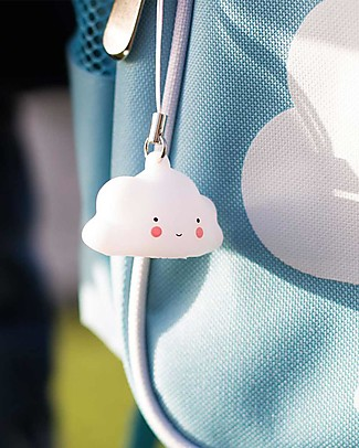 A Little Lovely Company Charm, Cloud - White Key Rings
