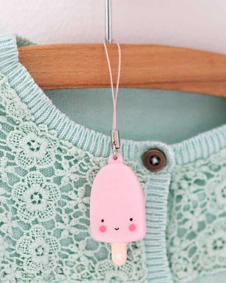 A Little Lovely Company Charm, Popsicle - Pink Key Rings