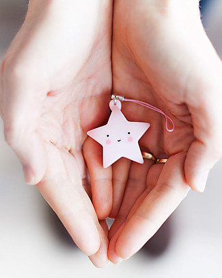 A Little Lovely Company Charm, Star - Pink Key Rings
