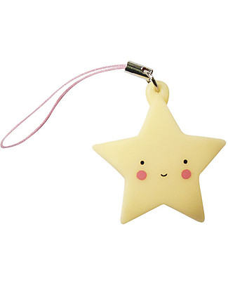 A Little Lovely Company Charm, Star - Yellow Key Rings