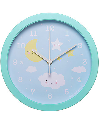 A Little Lovely Company Cloud Clock - Light Blue - WIth numbers! Room Decorations