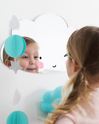 A Little Lovely Company Hanging Wall Mirror, Cloud - Acrylic Room Decorations