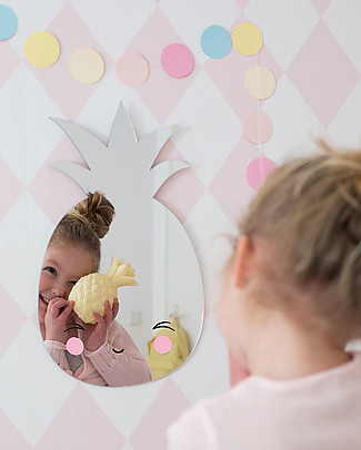 A Little Lovely Company Hanging Wall Mirror, Pineapple - Acrylic Room Decorations