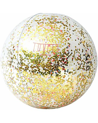 A Little Lovely Company Inflatable Glitter Beach Ball Beach Toys