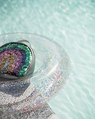 A Little Lovely Company Inflatable Swim Ring, Glitter Beach Toys