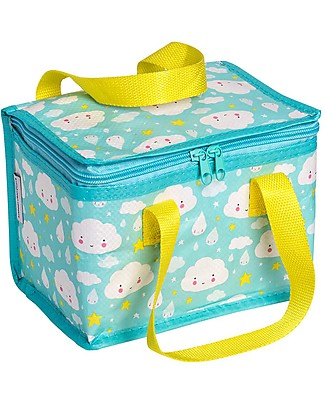 A Little Lovely Company Insulated Lunch Box, Cloud - Light Blue Lunch Boxes