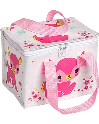 A Little Lovely Company Insulated Lunch Box, Deer - Pink Lunch Boxes