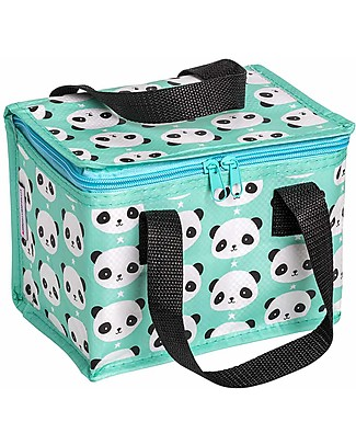 A Little Lovely Company Insulated Lunch Box, Panda - Mint Lunch Boxes