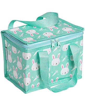 A Little Lovely Company Insulated Lunch Box, Rabbit - Mint Lunch Boxes