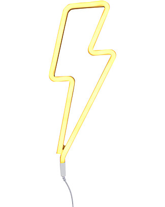 A Little Lovely Company LED Neon Light, Bolt - Yellow Wall Lamps