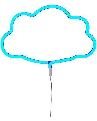 A Little Lovely Company LED Neon Light, Cloud - Blue Wall Lamps