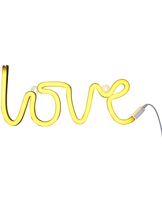 A Little Lovely Company LED Neon Light, Love - Yellow Wall Lamps