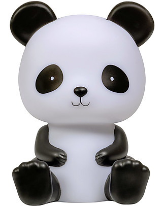 A Little Lovely Company LED Night Light, Panda - Black Bedside Lamps