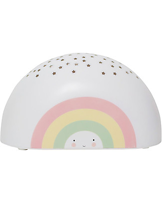 A Little Lovely Company LED Projector Light, Rainbow - Star Bedside Lamps