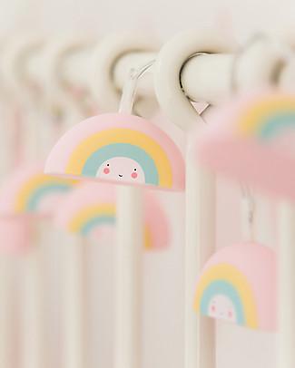 A Little Lovely Company LED String Lights, Raiinbows - Rainbow Greetings Cards