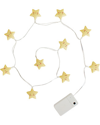 A Little Lovely Company LED String Lights, Stars - Yellow Greetings Cards