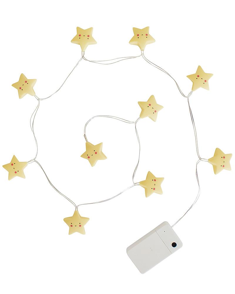 A little lovely company led string lights stars yellow unisex a little lovely company led string lights stars yellow greetings cards m4hsunfo