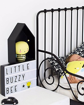 A Little Lovely Company Lightbox A4 with Adapter + 85 Letter, Black Bedside Lamps